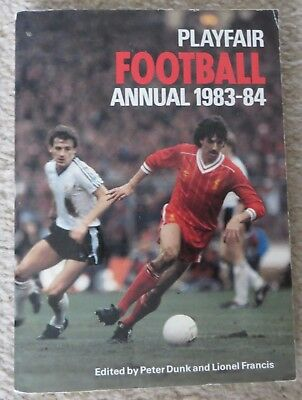 Playfair Football Annual 1983-84 Liverpool Manchester United cover