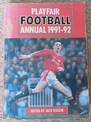 Playfair Football Annual 1991-92 Lee Sharpe Manchester United cover