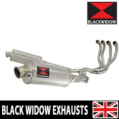 KAWASAKI ZZR 1200 4-2 FULL EXHAUST SYSTEM 300mm OVAL STAINLESS SILENCERS 300SS