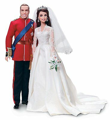 William And Catherine Royal Wedding Giftset Barbie Collection Gold Label