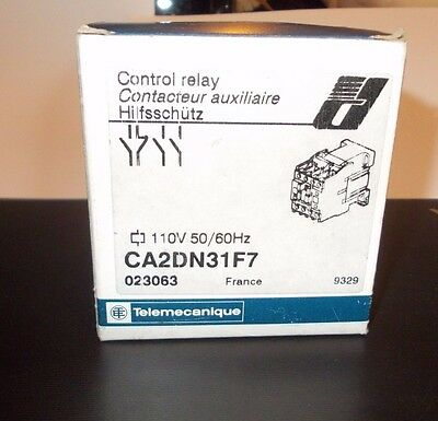Telemecanique control relay CA2DN31F7 110volt 50/60 HZ  4 pole sold separate