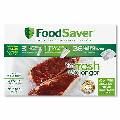 Foodsaver Roll and Bag Combo Pack - BPA-Free