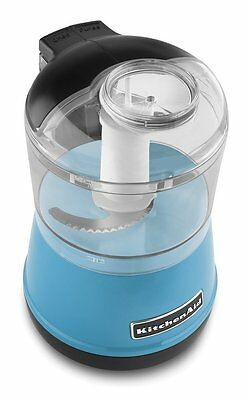 KitchenAid KFC3511CL 3.5-Cup Chef's Food Chopper,Silver, Chops, Slices, Dices