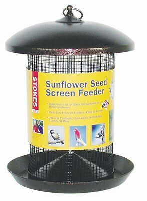 Stokes Select Sunflower Seed Screen Bird Feeder with Large Perching Tray and Met