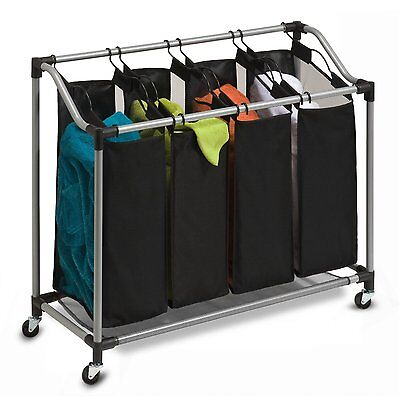 Honey-Can-Do Deluxe Quad Laundry Sorter with Polyester Bags, SRT-01682