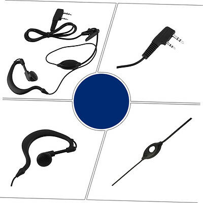2 Pin Mic Headset Earpiece Ear Hook Earphone for Baofeng Radio UV 5R 888s AU