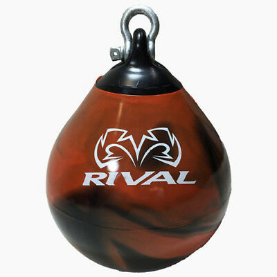 Rival Boxing Aqua Head Hunter Punching Bag - 12 in. - Black/Orange