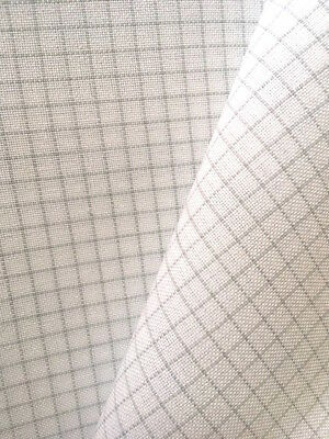 Zweigart White Easy Count 32 count Murano even weave 50 x 138 cm with grid lines