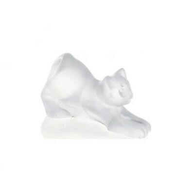 LALIQUE CLEAR CRYSTAL Kitten Stretching 1217300 Free Delivery