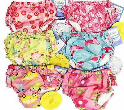 3 I Play Girl's Bathing Suit Ultimate Swim Diapers 12M 12 M Months 18-22 lbs NEW