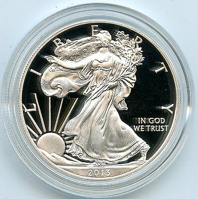 2013 American Eagle Silver Dollar PROOF Coin - 1 oz - United States Mint - AD936