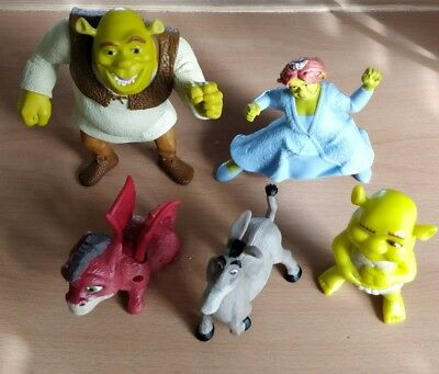 McDonalds happy meal toys Shrek 5 x Figures