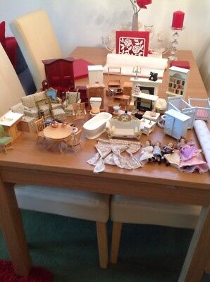 Huge Job Lot Of Dolls House Furniture ETC !