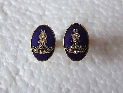 British Army Superb Enamel Cufflinks - The Life Guards Household Cavalry