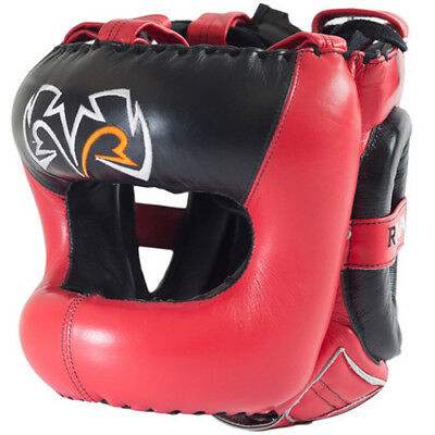 Rival Boxing Guerrero Facesaver Headgear - Red/Black