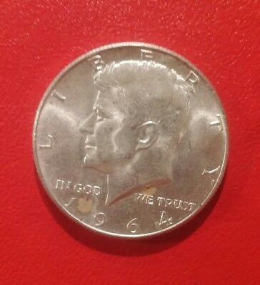 1964 silver American half Dollar beautiful coin great condition 50 cent USA