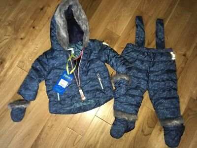 Ted Baker Snowsuit Baby Boys 0-3 Months New With Tags