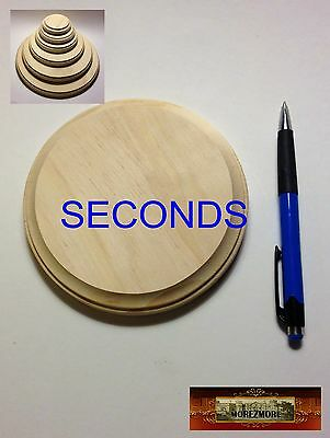 "M00512a MOREZMORE 1 Unfinished 5"" SECONDS Round Wood Base Wooden Plaque T20"