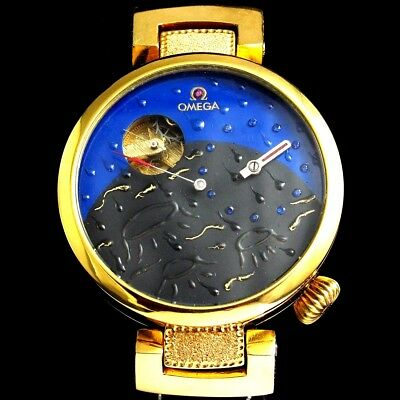 OMEGA Mens Wristwatch Half Skeleton Regulateur Mechanical Gold Men's Wrist Watch
