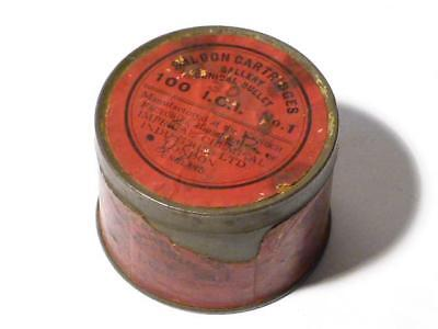 Antique Saloon Cartridges Gallery Conical Bullet Kynoch Hunting EMPTY Tin