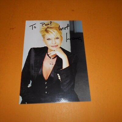 Ivana Trump is a Czech-American businesswoman and former Mrs. Hand Signed Photo