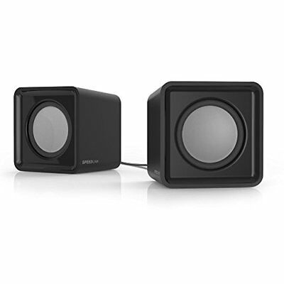 SPEEDLINK Twoxo Stereo Compact Cube USB Powered Speakers - Black