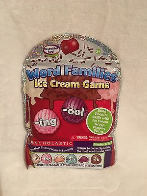 NEW Scholastic Word Families Ice Cream Game Grades K To 2