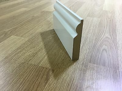 MDF SKIRTING BOARDS WHITE PRIMED TAURUS  18MM X 120mm xX 4200MM