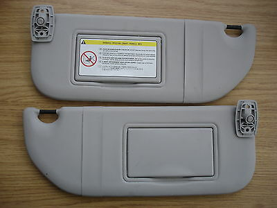 Citroen C2 / C3 / Pluriel Pair of Sun Visors with Mirrors - for 2003 Onwards