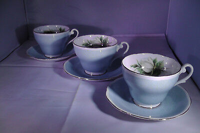 Lovely large tea cups + Saucers (x3)