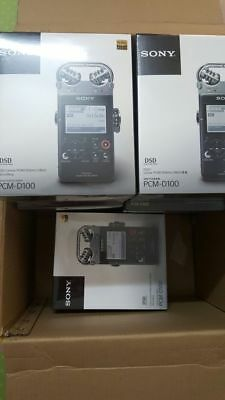 New Sony PCM-D100 Professional HRA Flagship Recorder In the Box