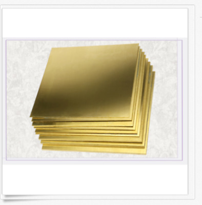 1PCS Brass Metal Sheet Plate 1mm x 100mm x 100mm