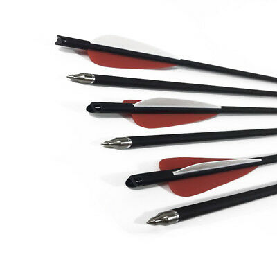 """12pc 17/20/22"""" Hybrid Carbon crossbow bolts changeable arrow for Archery Hunting"""