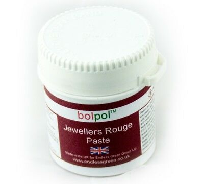 Jewellers Rouge - Soft paste to clean polish Gold, Silver & Soft metals 120g pot