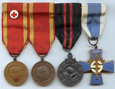 Finland WWII Winter War Red Cross Bar 4 Medals Liberty 1939-41 Nice Grade !!!