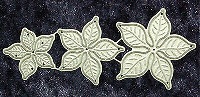 All Occasion Dies -  Small Poinsettias - Set of 3 -  Robert Addams - Papercrafts