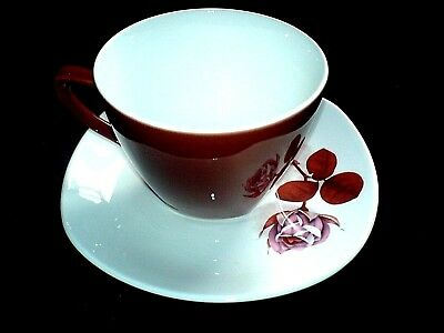 MIDWINTER Stylecraft 'Shadow Rose'  Fashion Shape Cup and Saucer x1 (3 available