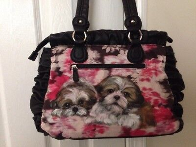 Shih Tzu Handpainted Handbag Pocketbook - New - BEAUTIFUL!