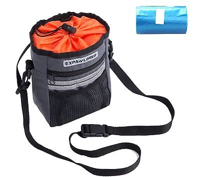 PUPTECK Reflective Dog Puppy Walking Treat Bag Training Pouch Bag With Adjustabl