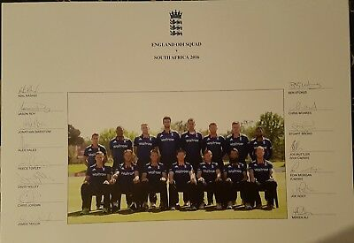 ENGLAND ONE DAY SQUAD v South Africa 2016 SIGNED PHOTOGRAPH