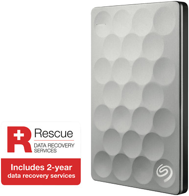 NEW Seagate 3571445 2TB Backup Plus Ultra Slim HDD Platinum SRS