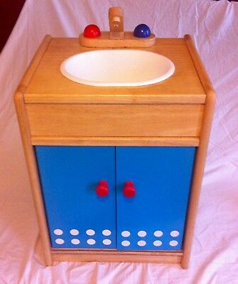 Sturdy Wooden Child's Play Sink
