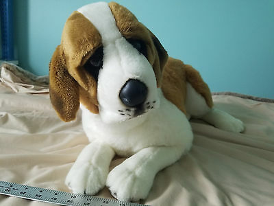 "Big Large 31"" Saint Bernard Stuffed Dog Plush Laying E&J Classic Clean"
