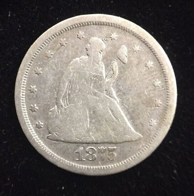 1875-S 20 Cent Piece Early U.S. Rare Collectible Coin