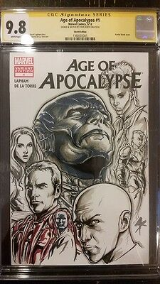 Marvel Comics AGE OF APOCALYPSE #1 CGC SS 9.8 Sketch Cover X-Men STORM WOLVERINE