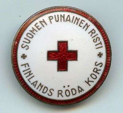 Finland Red Cross Badge Numbered Nice Grade !!!