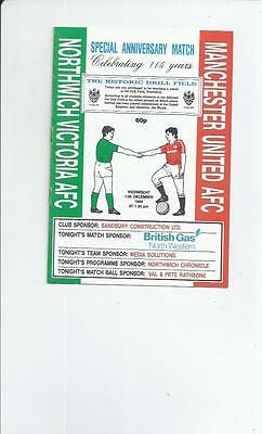 Northwich Victoria v Manchester United Friendly Football Programme 1989/90