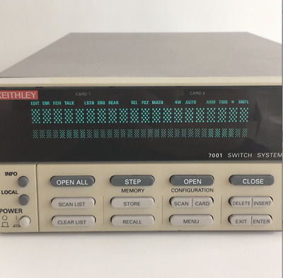 """Keithley 7001 Switch System Control/Mainframe TESTED """"Bright Display"""""""