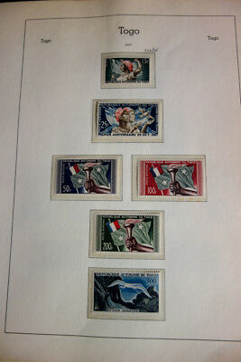 Togo Mint NH Stamp Collection 1950's-1960's All Clean