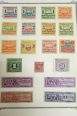 US Lot of 80 Revenue Tax Stamps Merchants National Bank